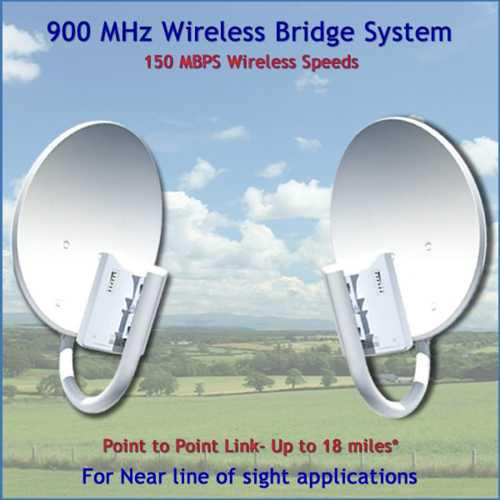 900 MHz Wireless Bridge Non Line of Sight