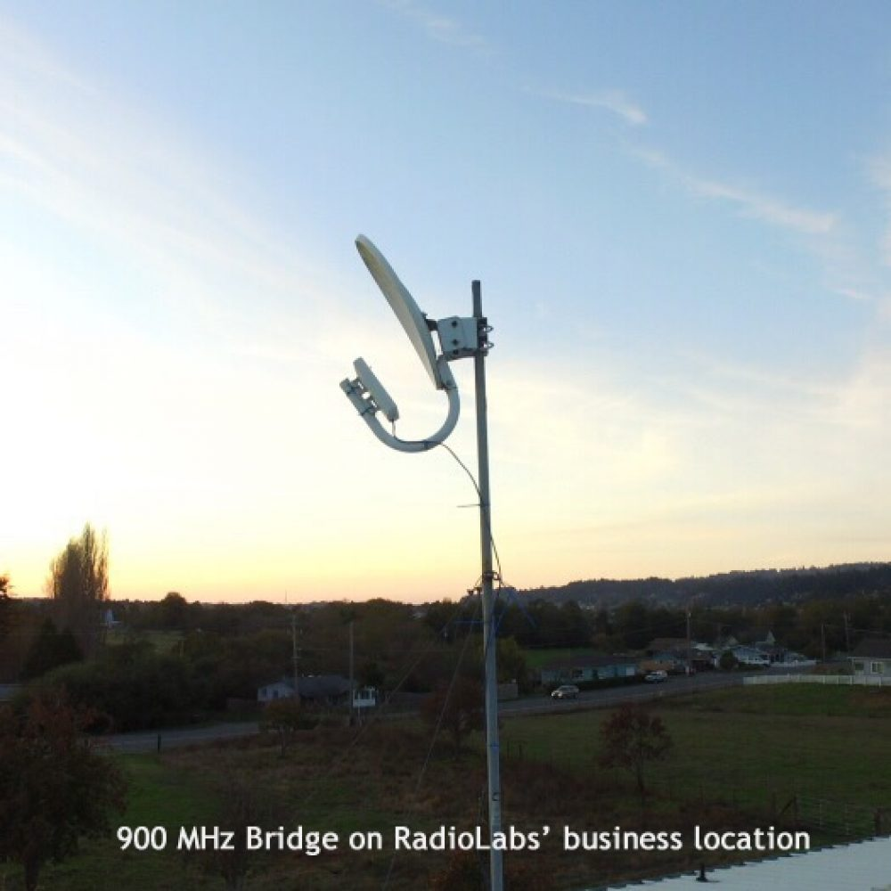 900 MHz non line of sight link at RadioLabs