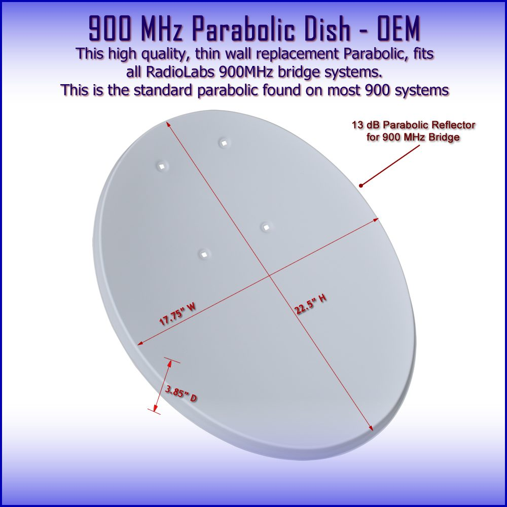 Parabolic 900 MHz Bridge Dish - Reflector - replacement part