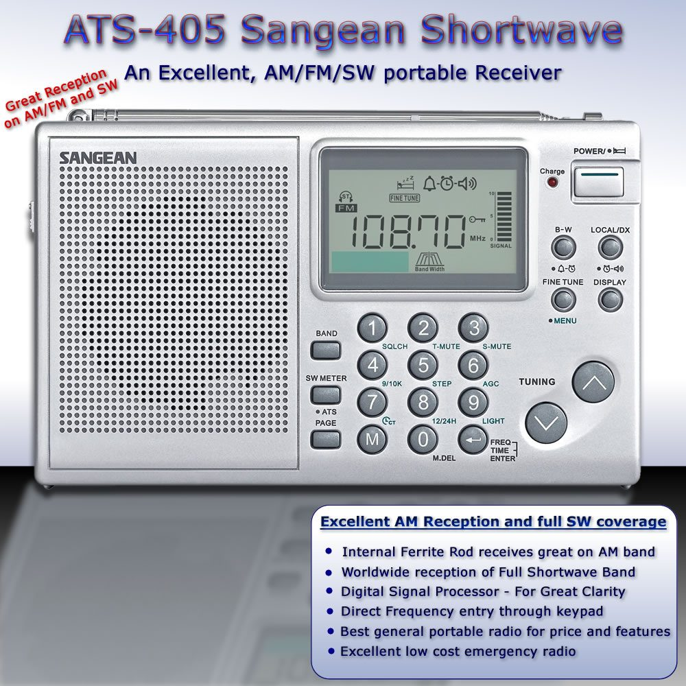 All Band Sangean ATS-405- Excellent AM FM SW reception
