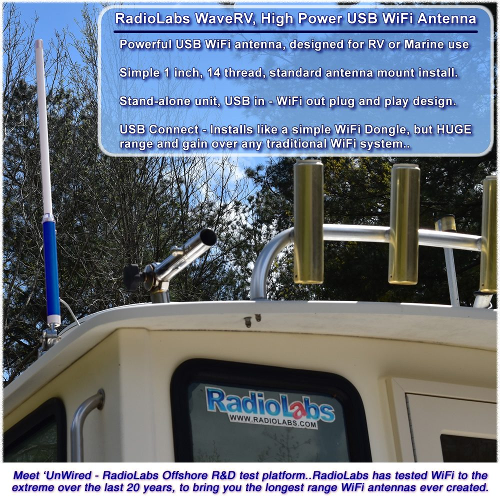 Extend - Boost WiFi signal at RV Parks or Marinas