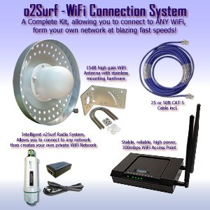 WiFi Connection kit contains all Wireless components to get wifi to any building, instantly.