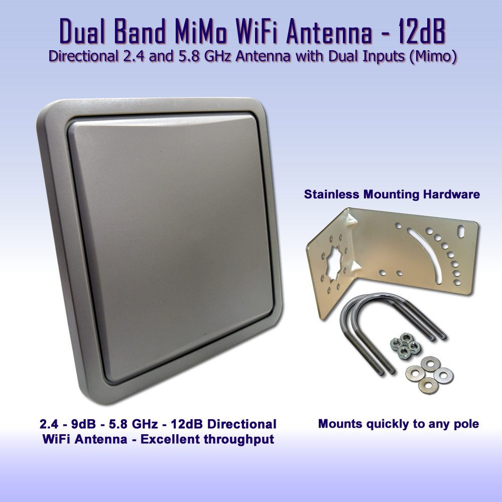 MiMo Dual Band WiFi Antenna - 2.4 - 5GHz directional