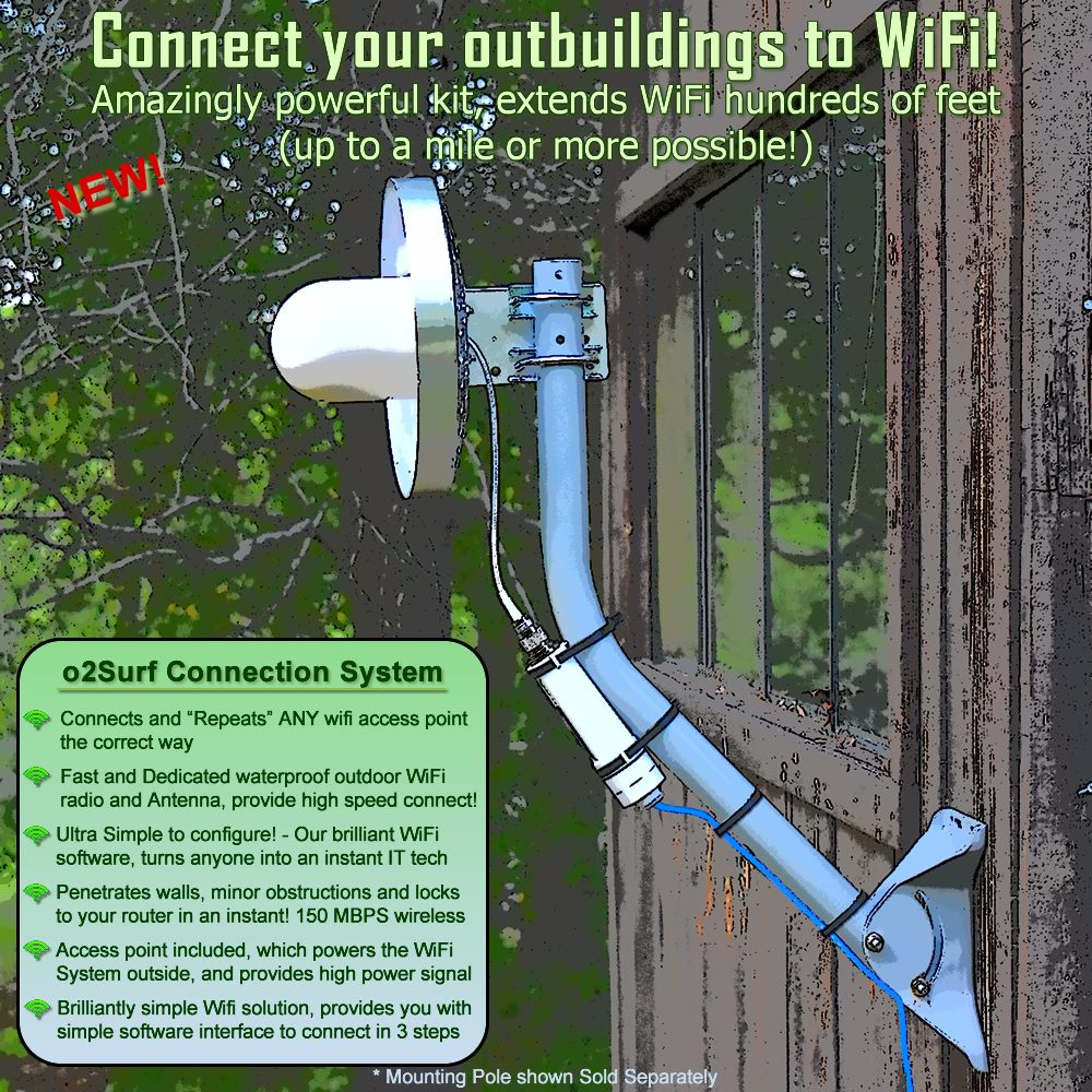 Extend - Connect WiFi to any outbuilding - Shop - Garage - Barn