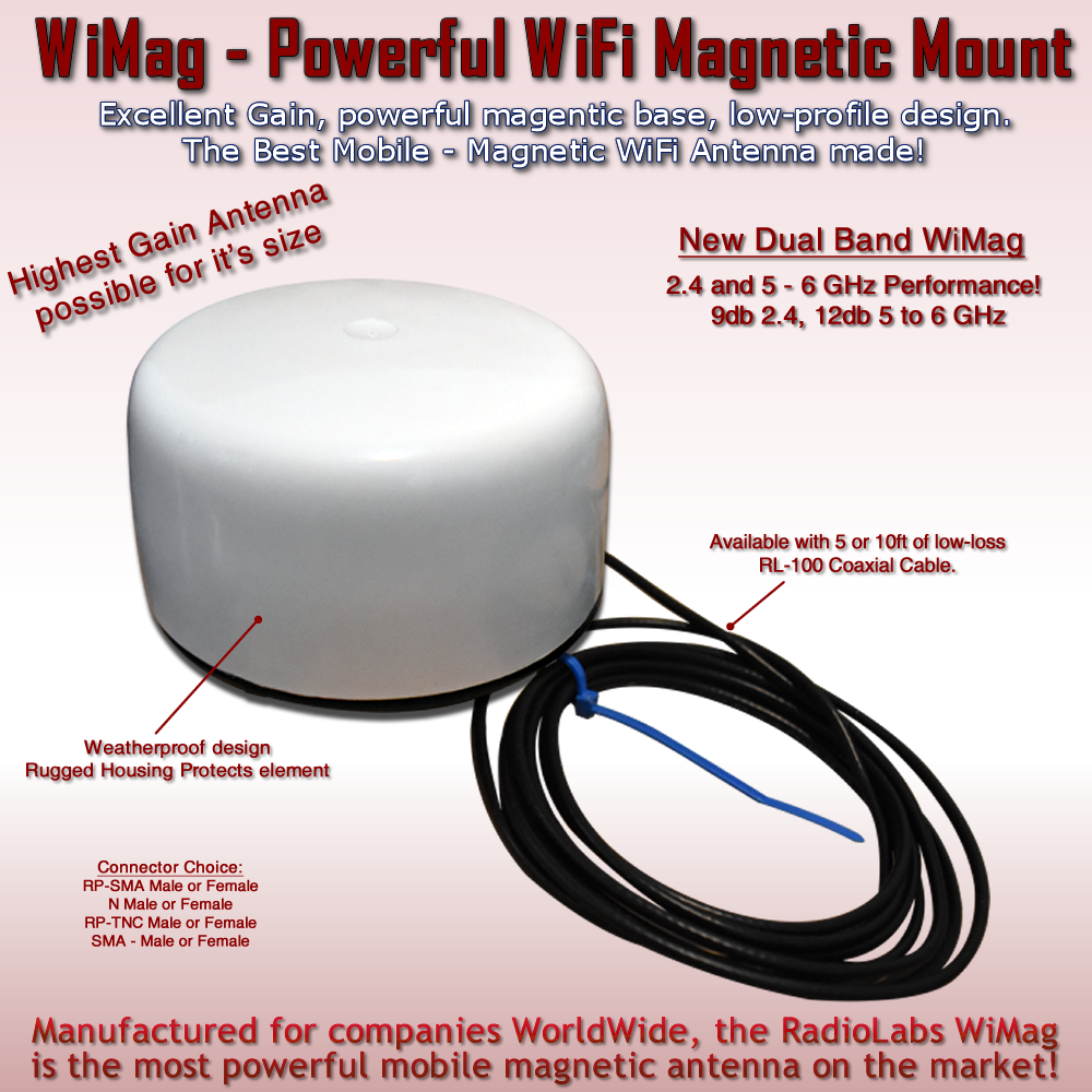 Mobile WiFi Mag Mount Antenna