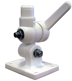 Ratchet Style Marine Mount - fits all 1 inch, 14 thread base antennas