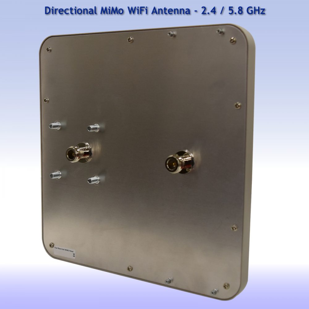 Rear Panel - 2x2 MiMo Directional WiFi Antenna