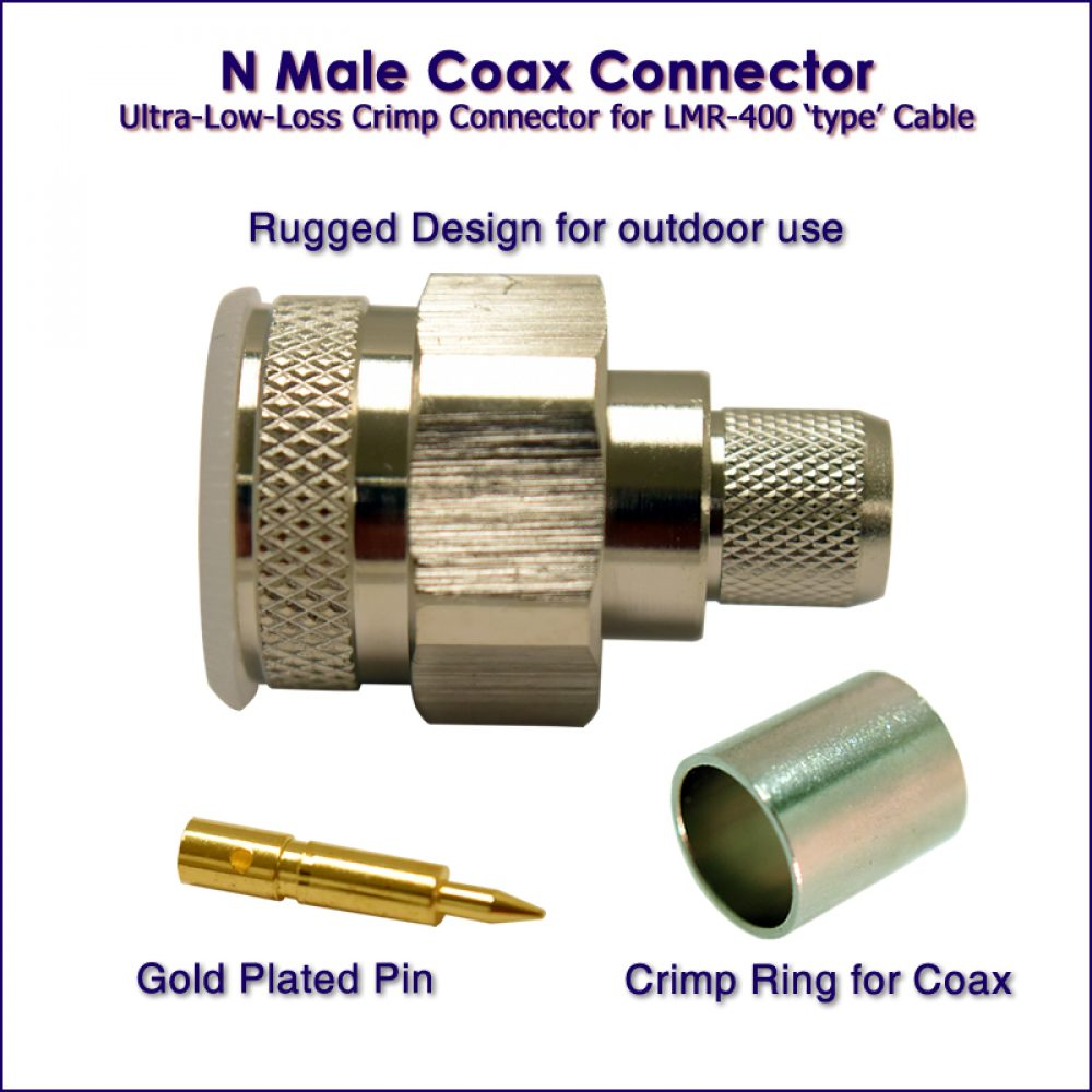 N Male Connector - For wireless - wifi coax