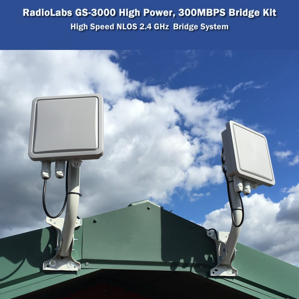 High Power, NLOS Wireless Bridge System - 300 MBPS