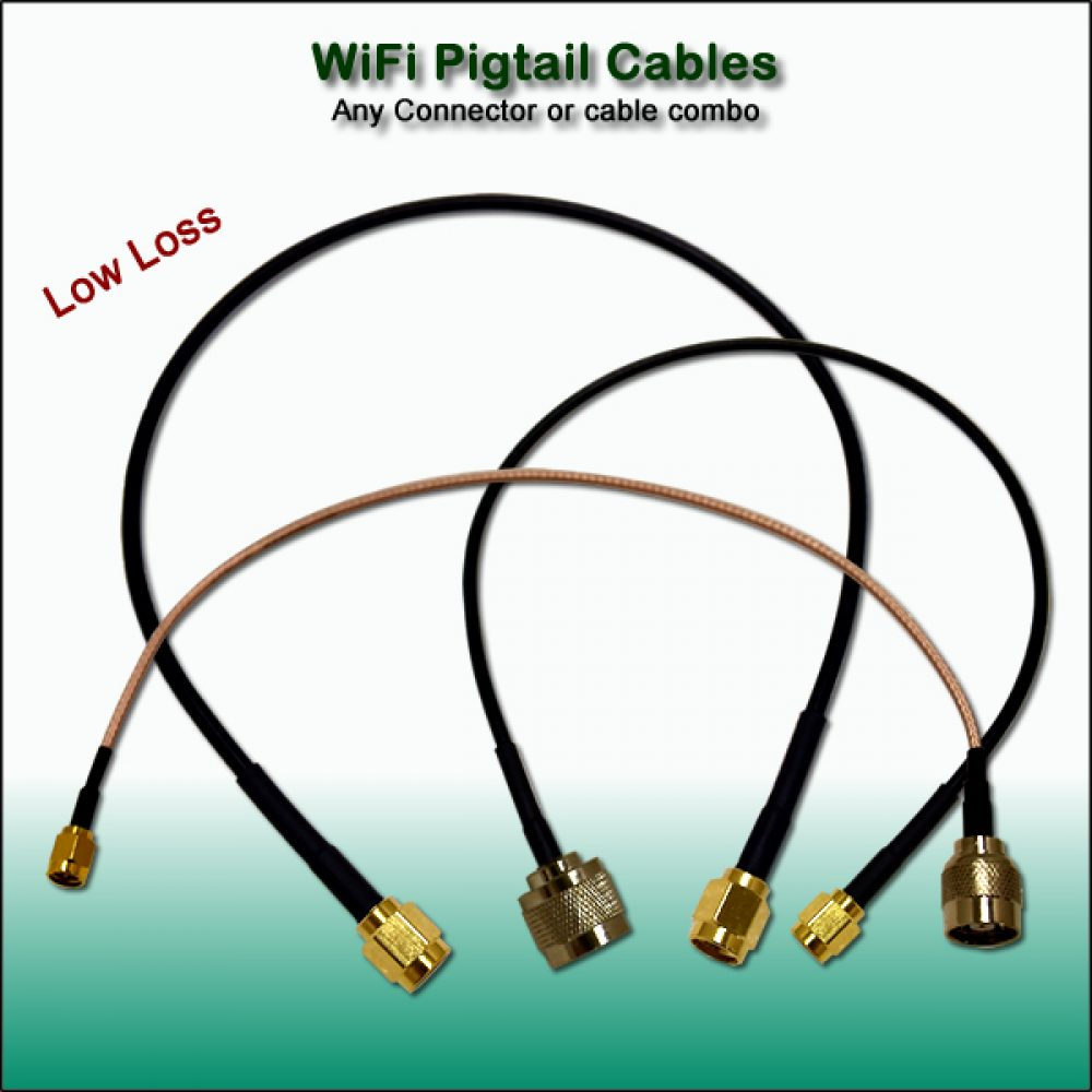 Pigtail cables - Wifi - Wireless pre-made or custom cables