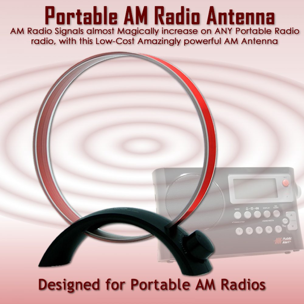 AM Radio Antenna Booster for Portable Radios