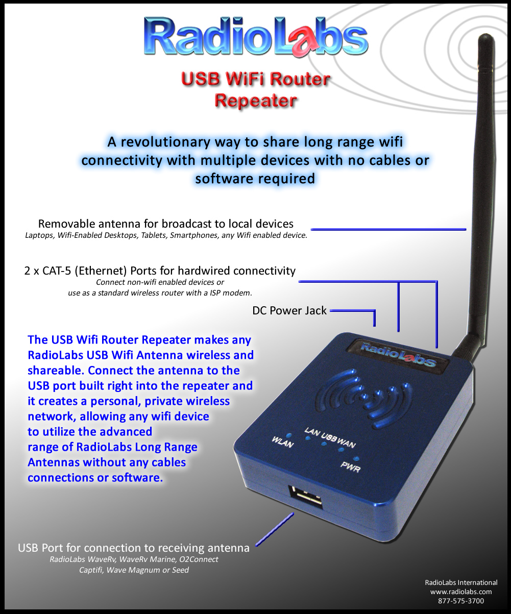 Radiolabs Usb Wifi Router Repeater Power Booster For Pc Laptop Click Image To View Details