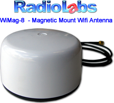 Radiolabs Wimag 8 Mobile Magnetic Wifi Antenna