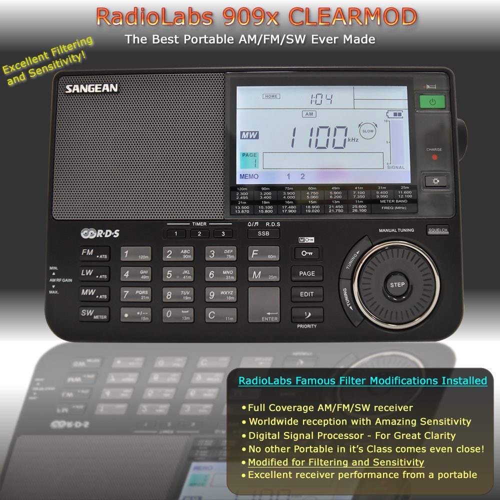 Sangean ATS-909X Clearmod Radio - From RadioLabs