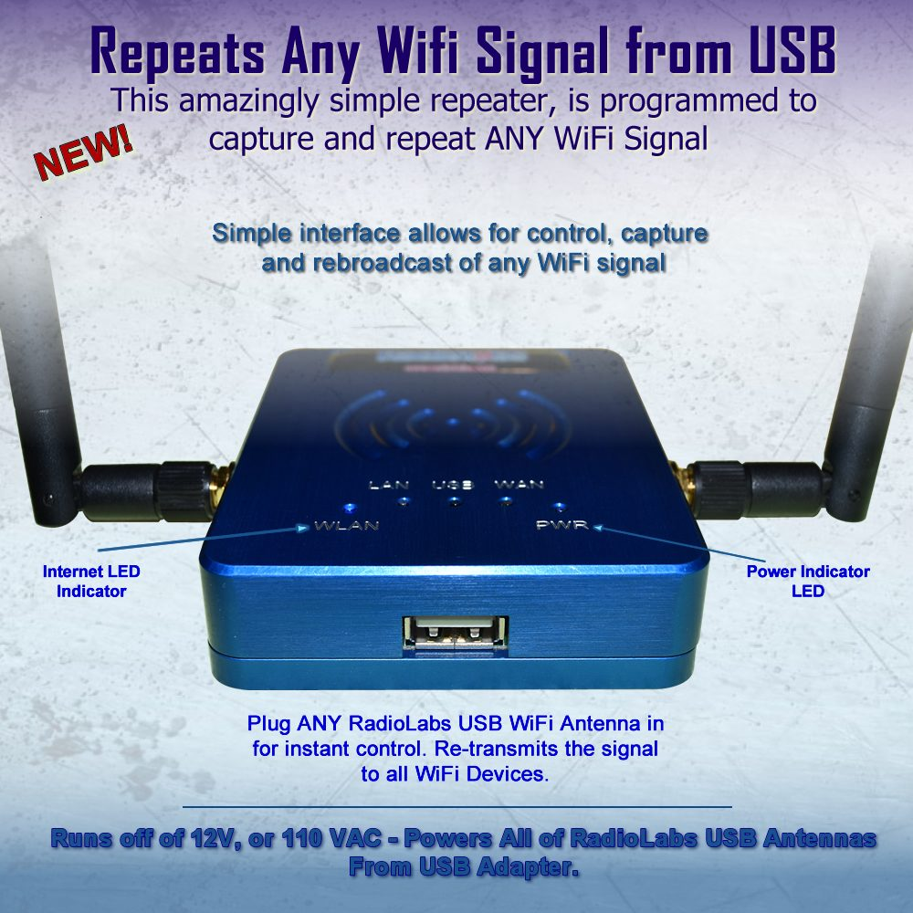 USB Repeater for WiFi RV and Marine Antennas