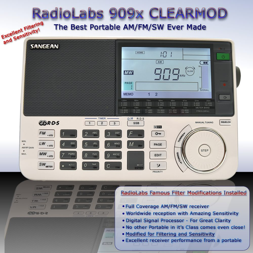 Sangean 909X ClearMod - The best shortwave portable receiver on the market