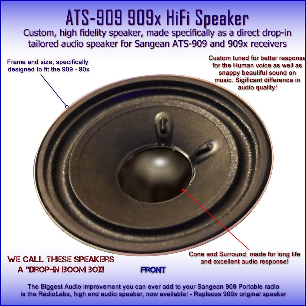 Speaker - ATS-909 and 909x - High performance replacement