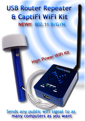 High power wifi Travel kit w / USB Antenna