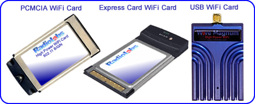 WiFi Card Types - USB - Express Card - PCMCIA