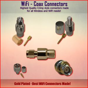 Connectors - WiFi Coax - Cable Crimp style