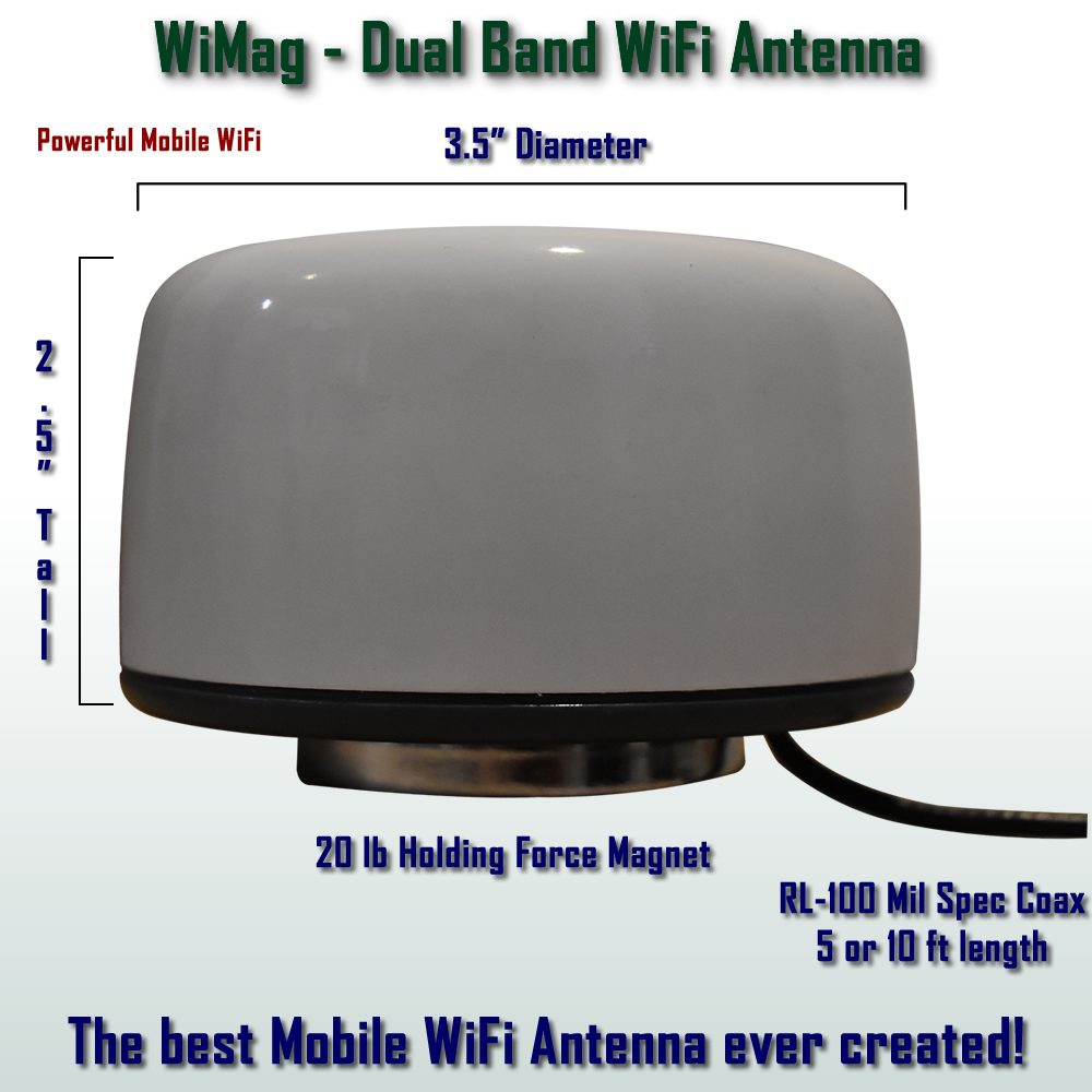 Magnetic Mount WiFi Antenna- Dual Band